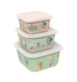 Petit Monkey lunchbox rhino lunchbox set