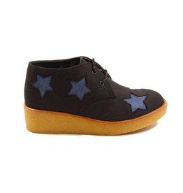 Stella McCartney Wendy wedge boots denim stars