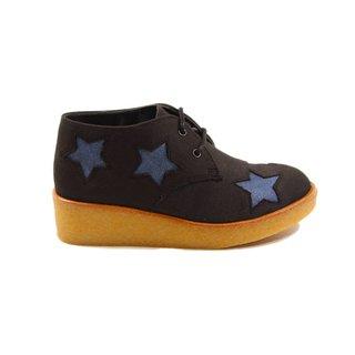 Wendy wedge boots denim stars