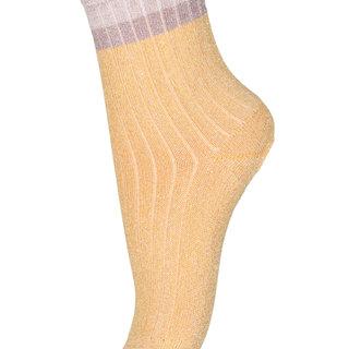 77191 glitter socks 4098 Ochre