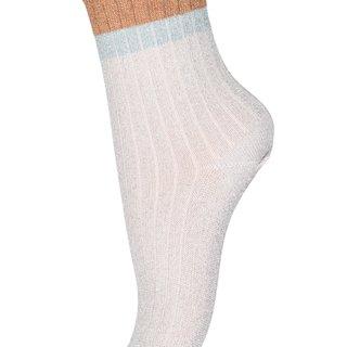 77191 glitter socks 4109 ecru