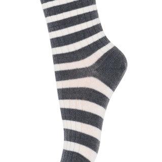 kous wol stripe 79200 497 dark grey