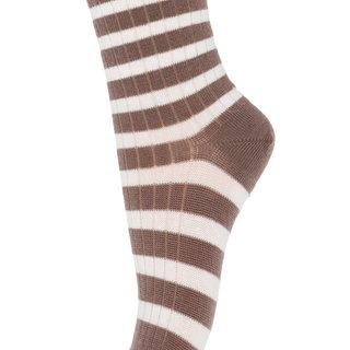 kous wol stripe 79200 76 brown sienna