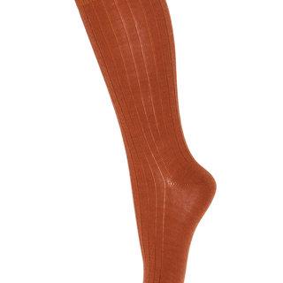 Knee socks wool 69017 1393 sienna