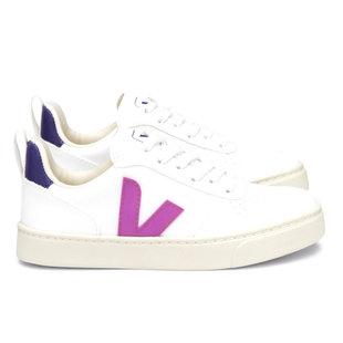 Small V10 laces white violet purple