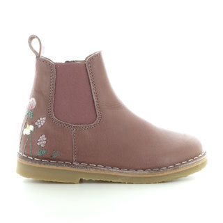 uniqua flower ankle boot old rose