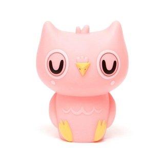 Owl night light peachy pink