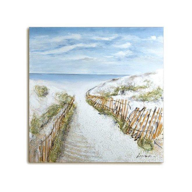 Canvas schilderij Dunes-Idyll
