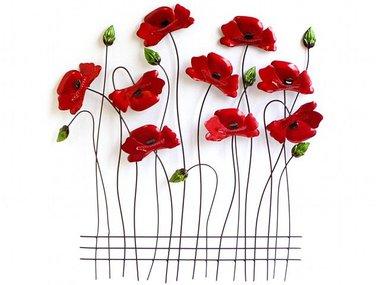 Sampaguita Wall Art Poppies 60x56