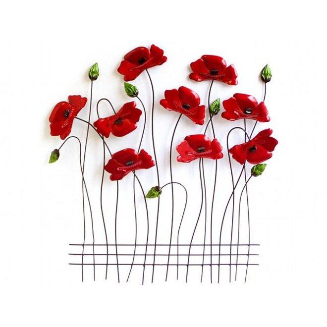 Wall Art Poppies 60x56