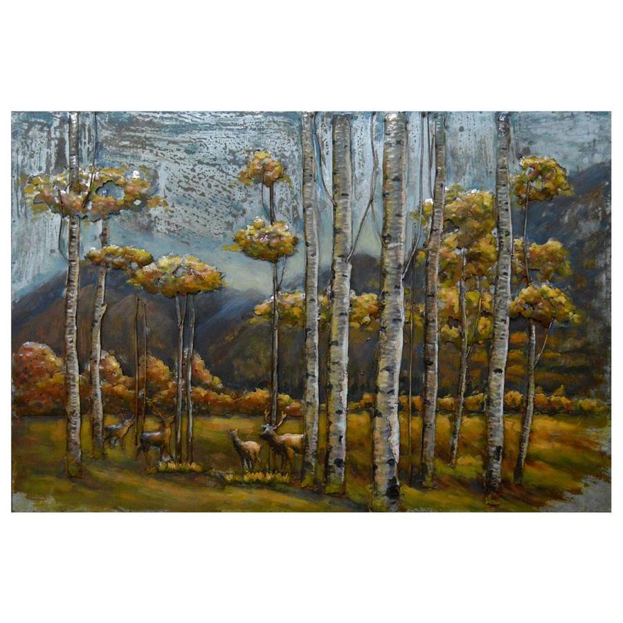 Metal Art Birch Forest
