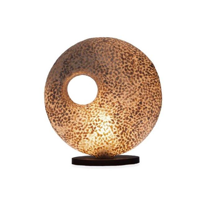 Villaflor schelpenlamp - Wangi Gold - tafellamp - Donut