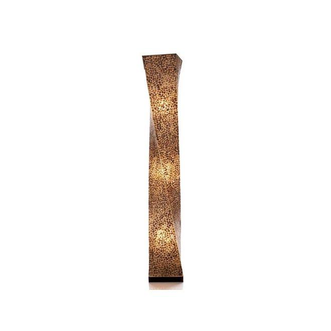 Villaflor schelpenlamp - Wangi Gold - vloerlamp - Twisty - 150 cm