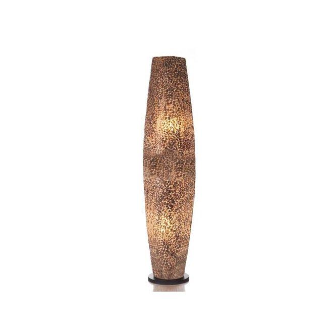 Villaflor schelpenlamp - Wangi Gold - vloerlamp - Apollo - 100 cm