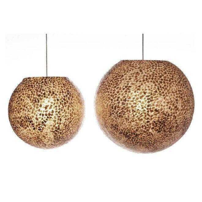 Villaflor schelpenlamp - Wangi Gold - hanglamp - Hangende bol - Ø 50 cm