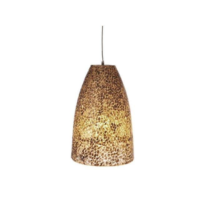 Schelpenlamp - Wangi Gold - Hangende Conus S