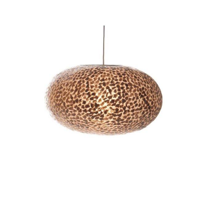 Schelpenlamp - Wangi Gold - Hangende UFO - Ø 40 cm