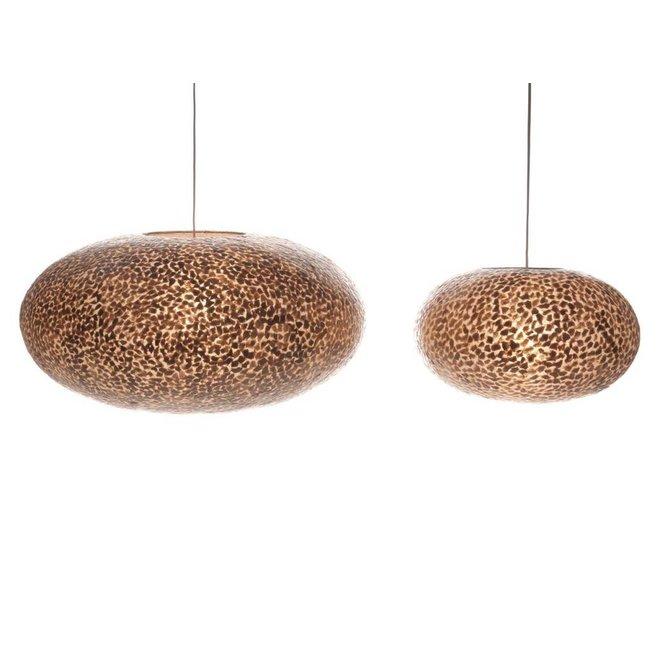 Villaflor schelpenlamp - Wangi Gold - hanglamp - UFO - Ø 60 cm