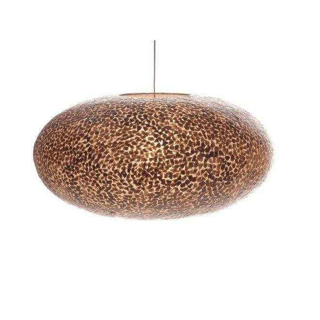 Schelpenlamp - Wangi Gold - Hangende UFO - Ø 60 cm