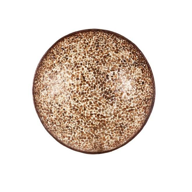Villaflor schelpenlamp - Wangi Gold - wand- of plafondlamp - Moon -  Ø 60 cm
