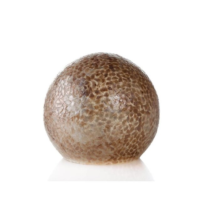 Villaflor schelpenlamp - Wangi Gold - tafellamp - Staande bol - Ø 30 cm