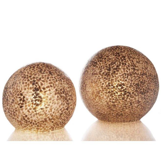 Villaflor schelpenlamp - Wangi Gold - tafellamp - Staande bol - Ø 40 cm