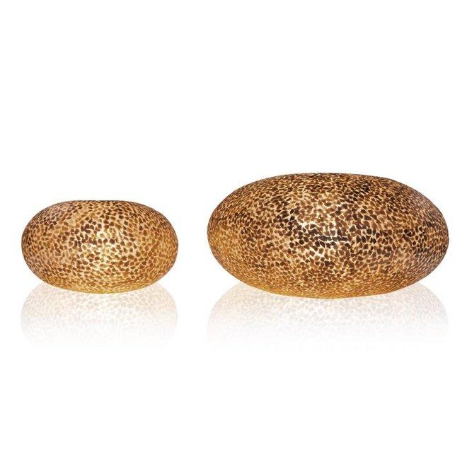 Villaflor schelpenlamp - Wangi Gold - tafellamp - UFO - Ø 40 cm