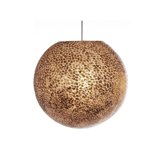 Villaflor schelpenlamp - Wangi Gold - hanglamp - Hangende bol - Ø 40 cm
