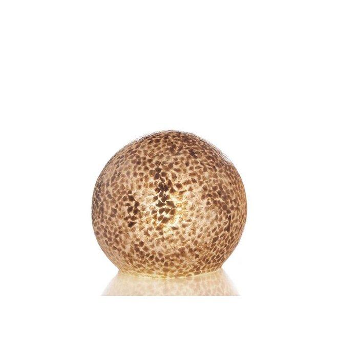 Schelpenlamp - Wangi Gold - Staande bol - Ø 30 cm
