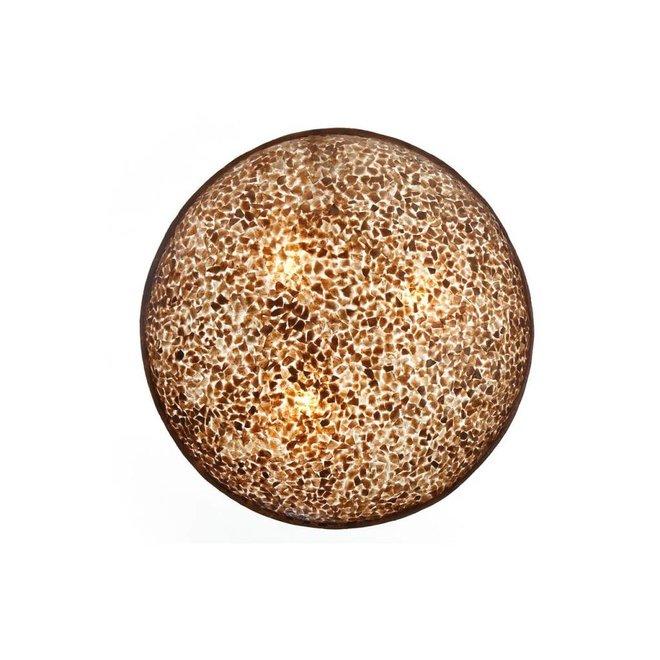 Schelpenlamp - Wangi Gold - Moon - Ø 60 cm