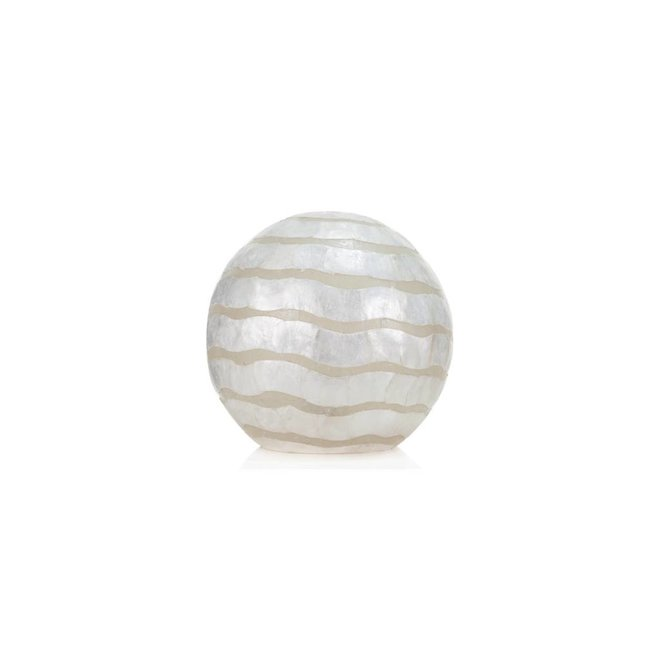 Villaflor schelpenlamp - Waves - tafellamp - Staande bol - Ø 30 cm