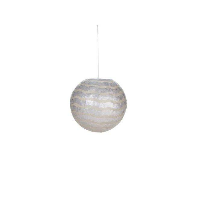 Villaflor schelpenlamp - Waves - hanglamp - Hangende bol - Ø 40 cm
