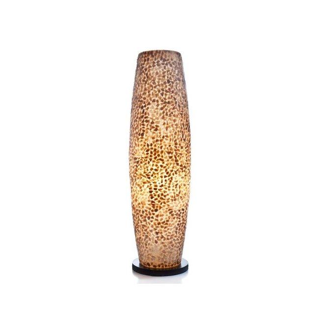 Villaflor schelpenlamp - Wangi Gold - vloerlamp - Apollo 70 cm