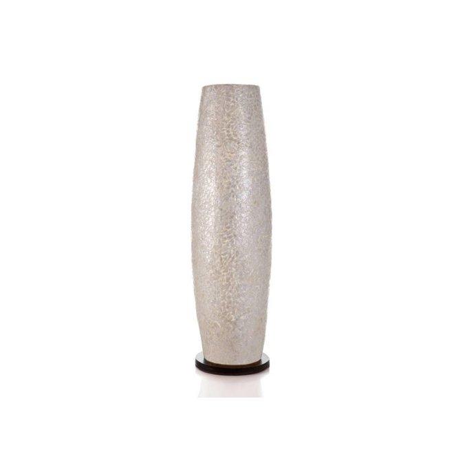 Villaflor schelpenlamp - Wangi White - vloerlamp - Apollo - 70 cm