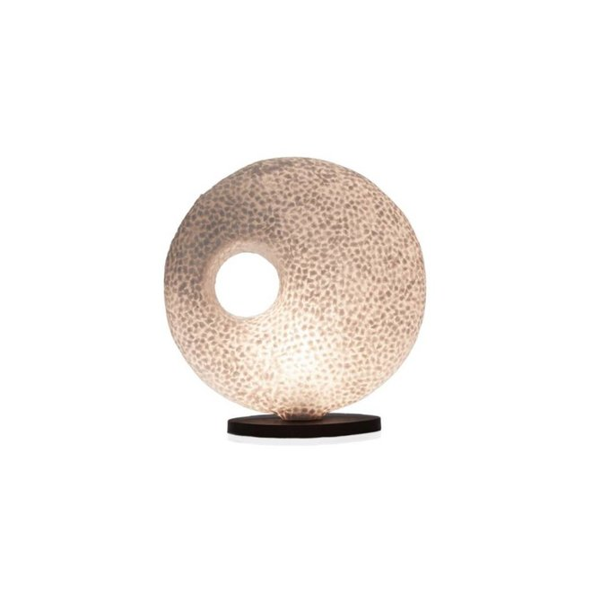 Villaflor schelpenlamp - Wangi White - tafellamp - Donut