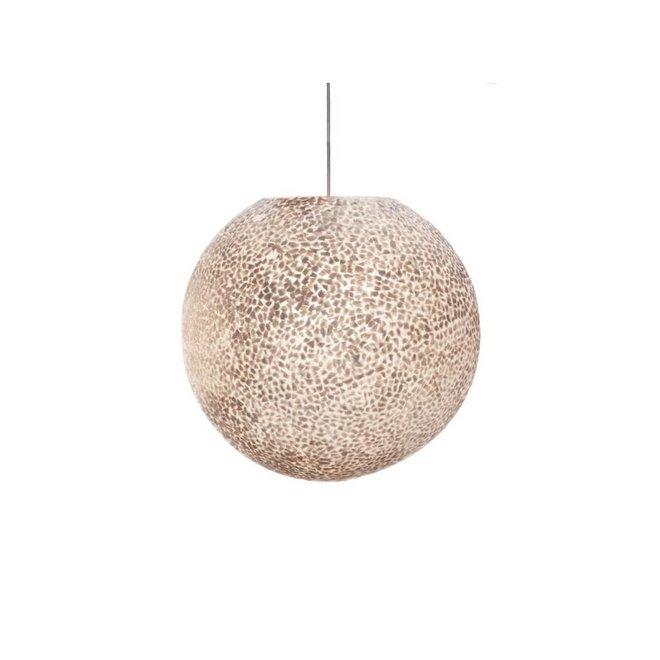 Villaflor schelpenlamp - Wangi White - hanglamp - Hangende bol - Ø 50 cm