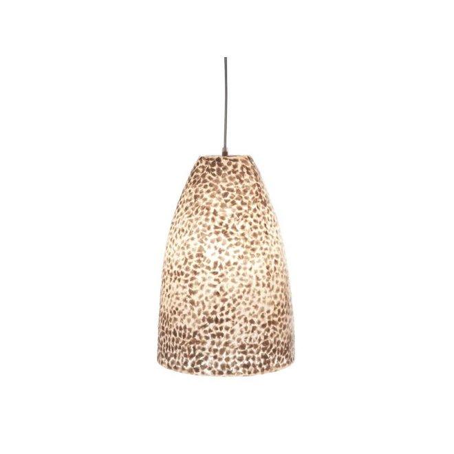 Schelpenlamp - Wangi White - Hangende conus S