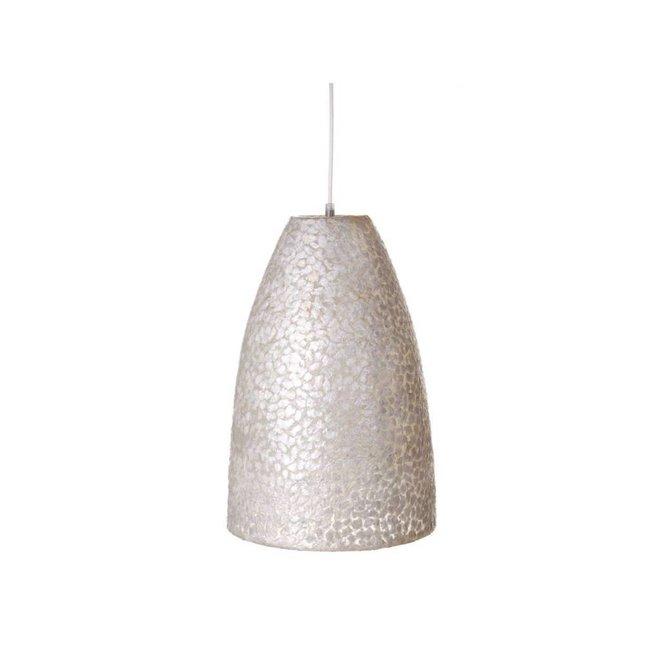 Villaflor schelpenlamp - Wangi White - hanglamp - Hangende conus S