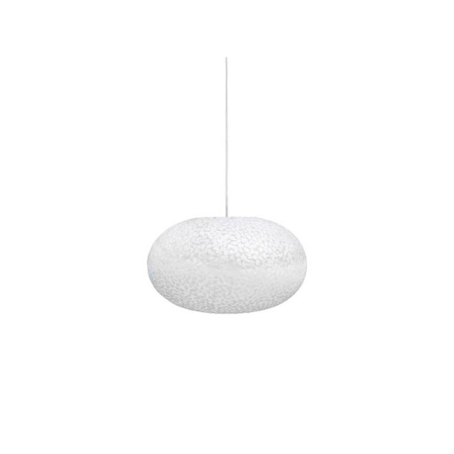 Villaflor schelpenlamp - Wangi White - hanglamp - UFO - Ø 40 cm