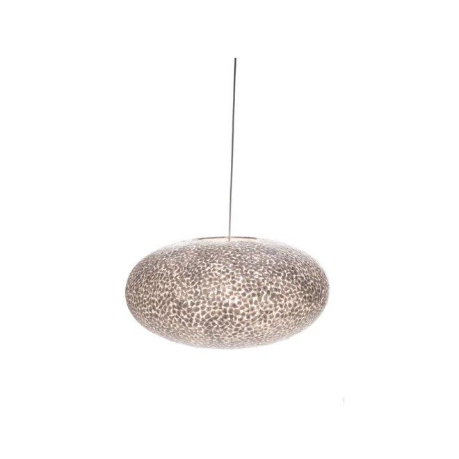 Villaflor schelpenlamp - Wangi White - hanglamp - UFO - Ø 60 cm