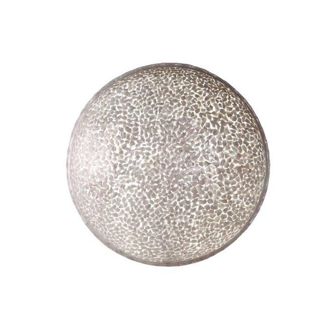 Villaflor schelpenlamp - Wangi White - wand- of plafondlamp - Moon - Ø 60 cm