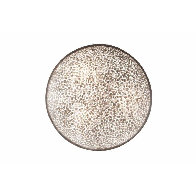 Schelpenlamp - Wangi White - Moon - Ø 60 cm