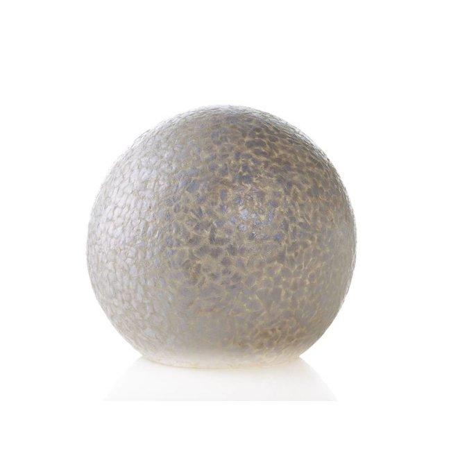 Villaflor schelpenlamp - Wangi White - tafellamp - Staande bol - Ø 30 cm