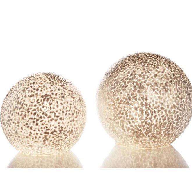 Villaflor schelpenlamp - Wangi White - tafellamp - Staande bol - Ø 40 cm