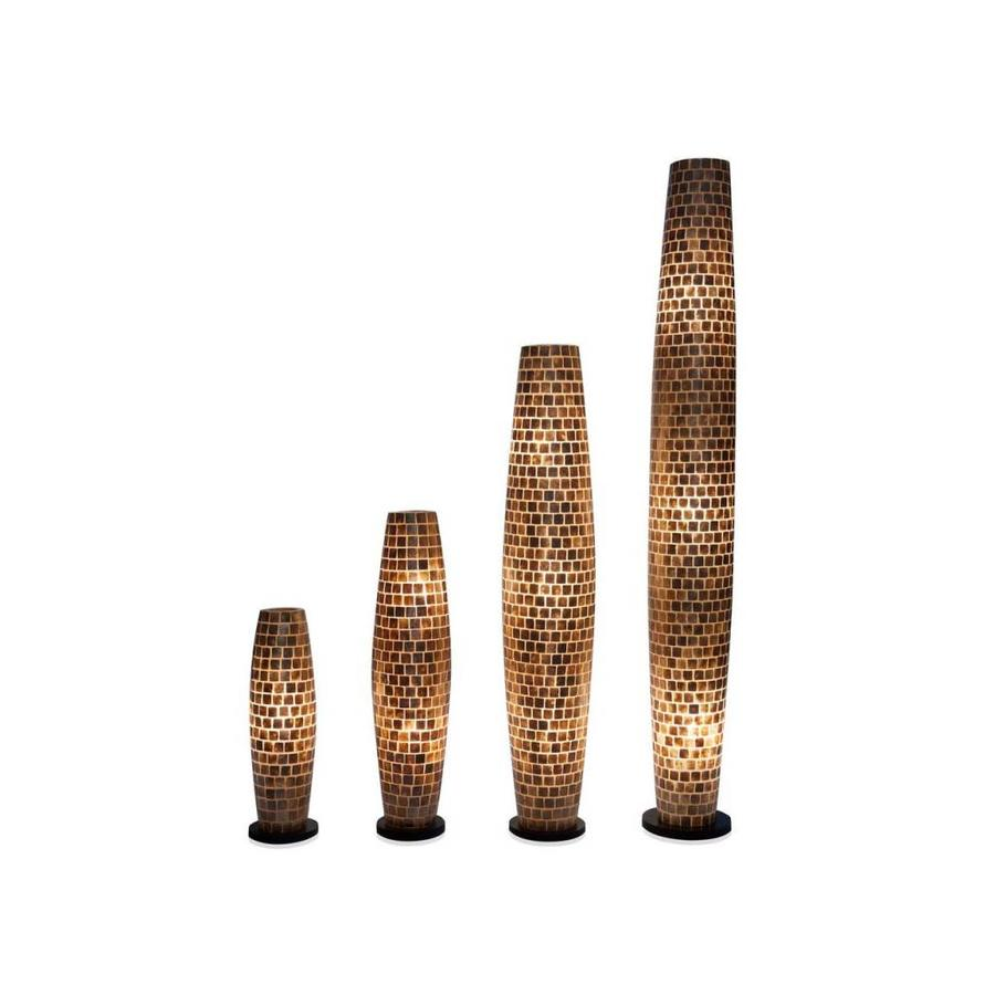 Villaflor Villaflor schelpenlamp - Moni Gold - vloerlamp - Apollo - 150 cm