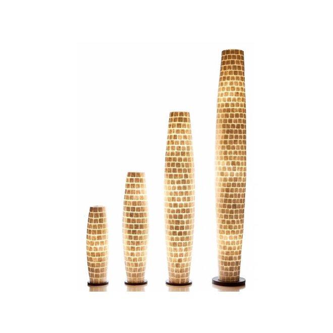 Villaflor schelpenlamp - Moni White - vloerlamp, Apollo 150 cm