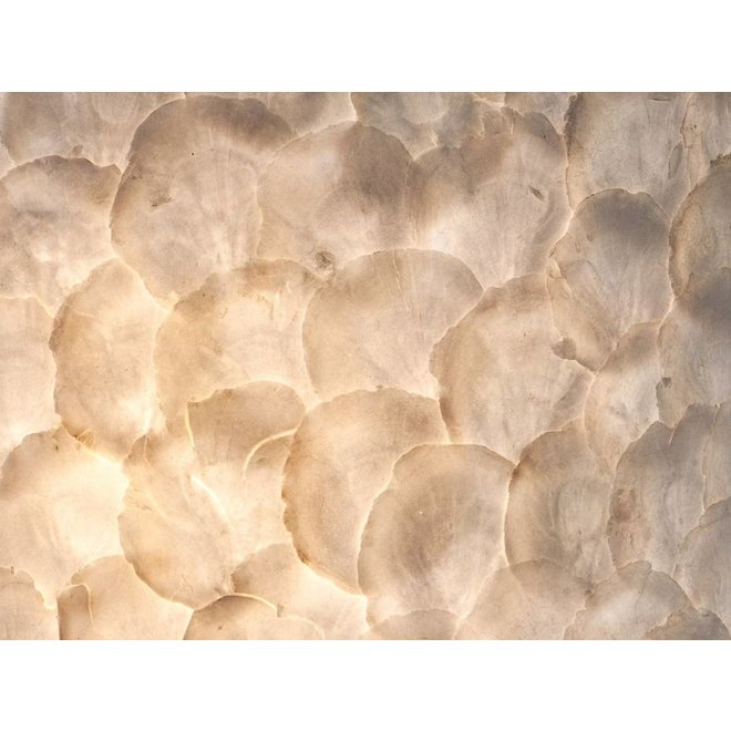 Villaflor schelpenlamp - Full Shell - tafellamp - Staande Bol - Ø 30 cm