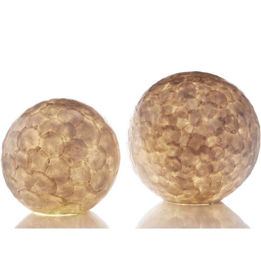 Villaflor Villaflor schelpenlamp - Full Shell - tafellamp - Staande Bol - Ø 40 cm