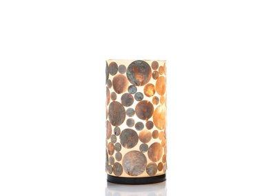 Villaflor Schelpenlamp - Coin Gold - Cilinder - 30  cm