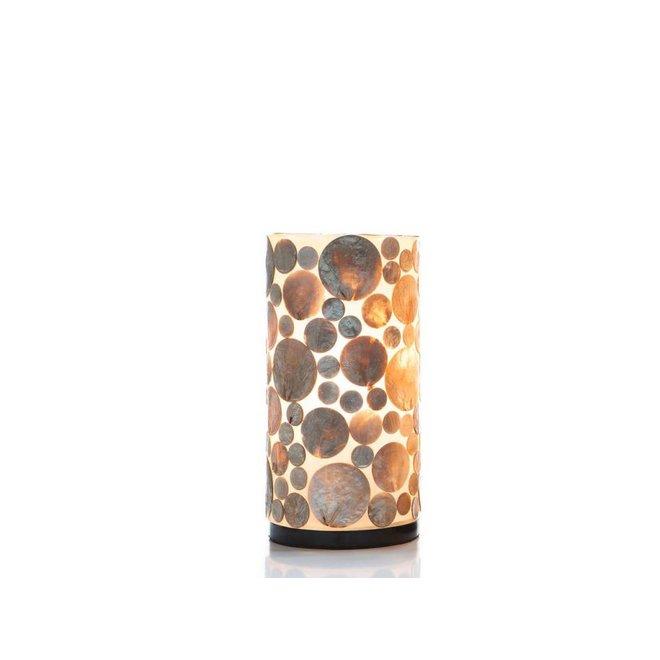 Schelpenlamp - Coin Gold - Cilinder - 30  cm
